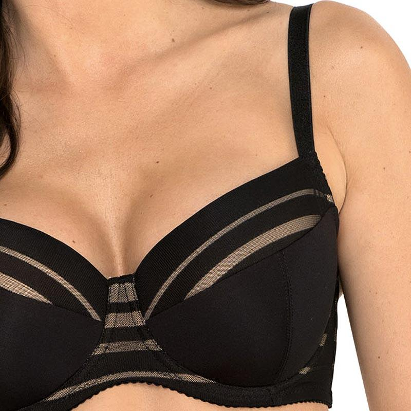Full Figure Padded Striped Bra Gorteks Luna freeshipping - PuaGme