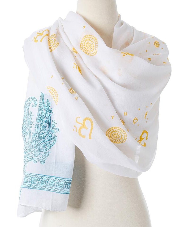 OM Shanti Meditation Prayer Fashion Shawl freeshipping - PuaGme