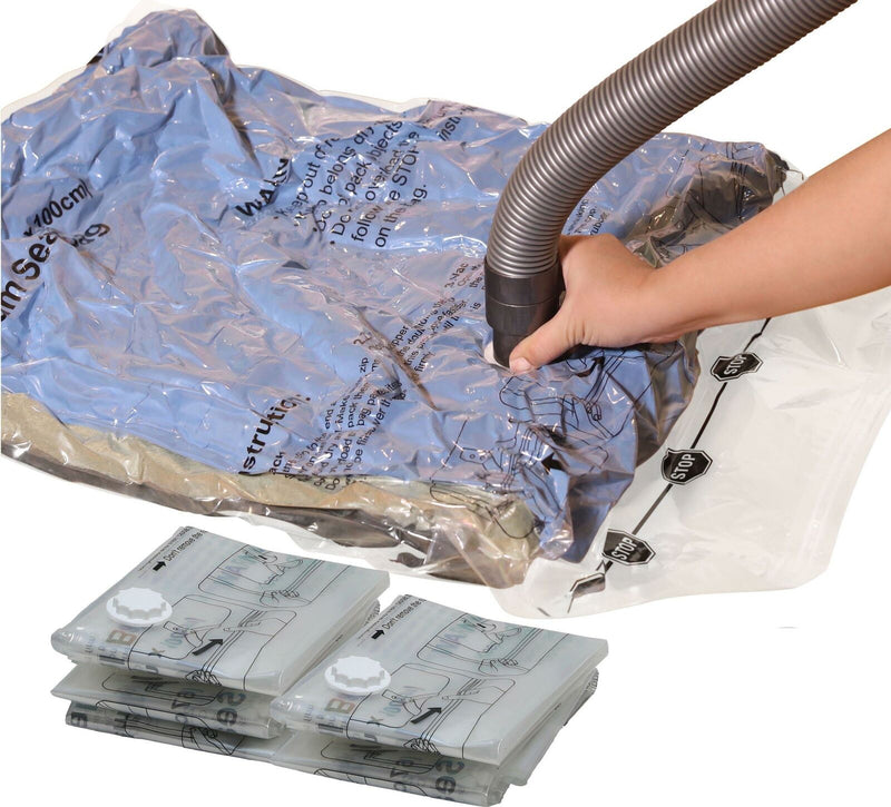 Simple Houseware 5 Pack Extra Large Vacuum Storage Bags Space Saver for Clothes