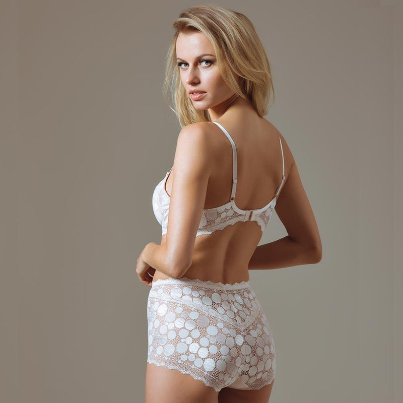 Polka Dot High Waist Brief Panty Lauma Pearly Shadow freeshipping - PuaGme