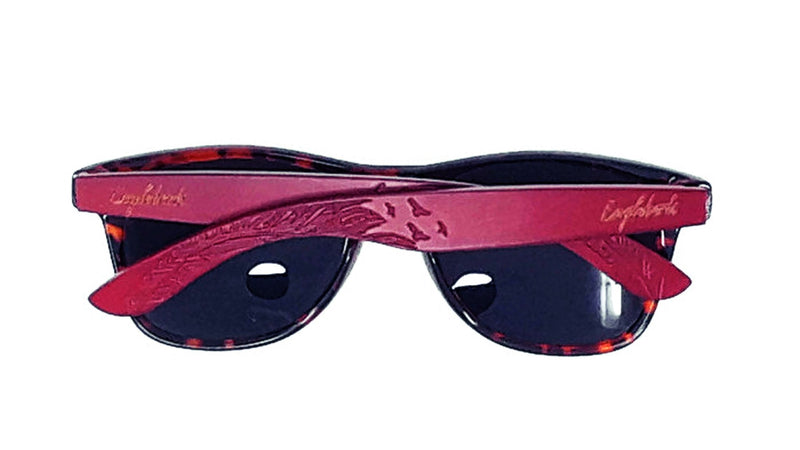 Red Bamboo Tortoise Framed Sunglasses With Wood Case, Polarized, freeshipping - PuaGme