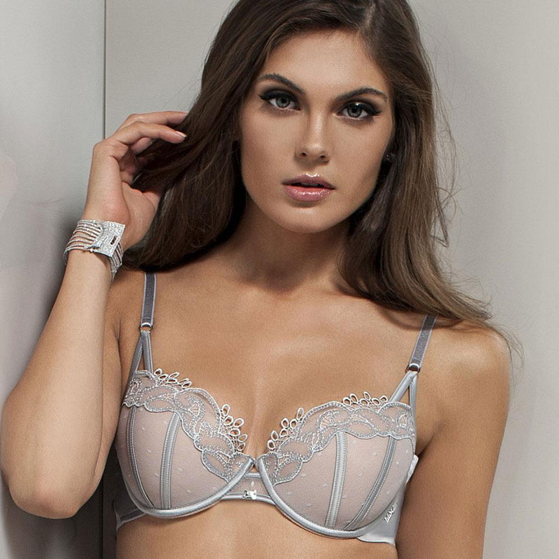 Lace Tulle Foam Cup Bra Lisca Emotion