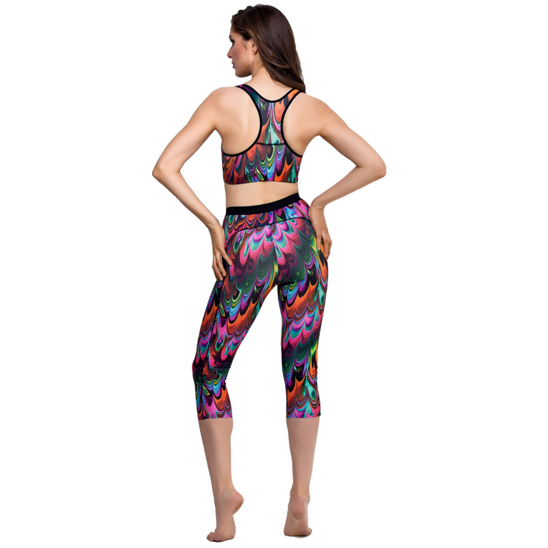 Capri Leggings Lauma Activewear Multicolor freeshipping - PuaGme