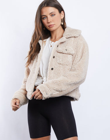 Elinor Button Down Sherpa Coat