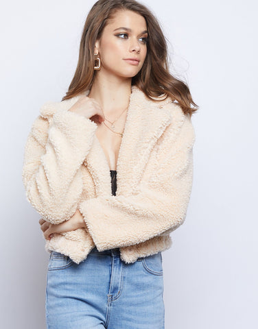 Fireside Cropped Teddy Coat