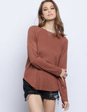 Layered Up Knit Long Sleeve Top