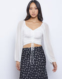 Seven Wonders Ruched Crop Top