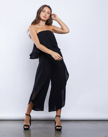 Twirl It Strapless Jumpsuit