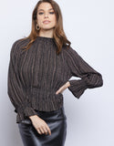 Victoria Mock Neck Blouse