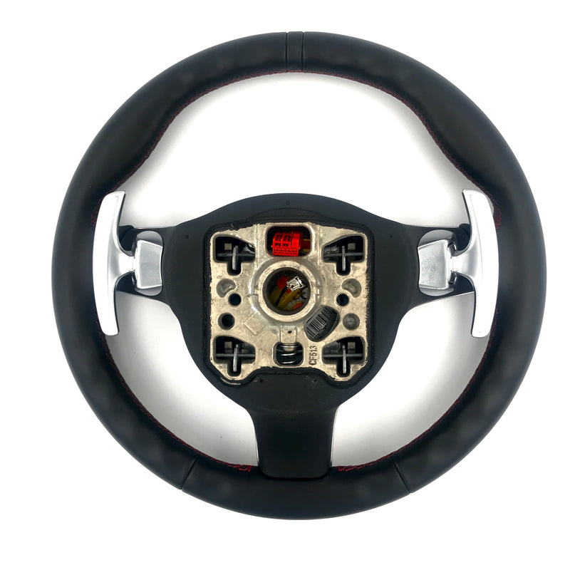 Genuine Porsche GT3 Sport PDK Steering Wheel, Black Leather & Guards Red Stitching