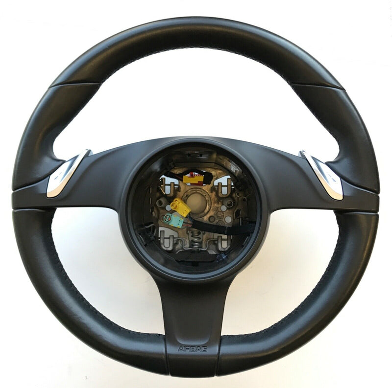 Genuine Porsche PDK Steering Wheel, Black Leather