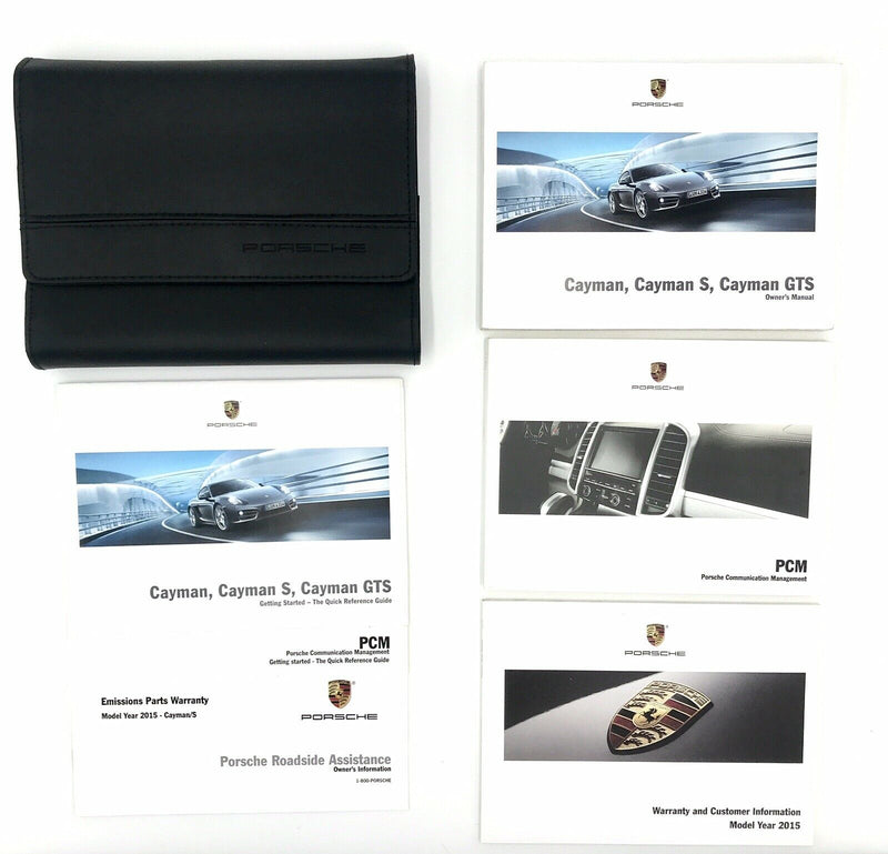 Genuine 981 Porsche Cayman, Cayman S, Cayman GTS Owner's Manual Set with Wallet