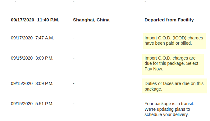 Customs Fees on China Shipments