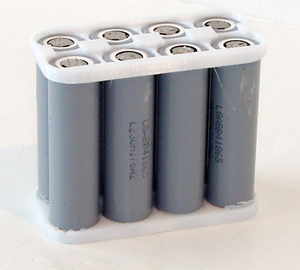 "4S2P ""Batteries Included"" Kit w/Cell Holders and 8-PCS LG LGABB41865 18650  DIY"