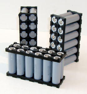 "6S2P ""Batteries Included"" Kit w/Cell Holders and 12-PCS LG LGABB41865 18650  DIY"