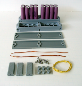 "Complete 18650 Battery Module Kit ""Batteries Included"" 16-PCS LGDBB31865 LG"