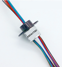 Load image into Gallery viewer, Miniature 12-CHANNEL Slip Ring 360° FREEDOM for signal, data and power! Robotics Imaging Automation