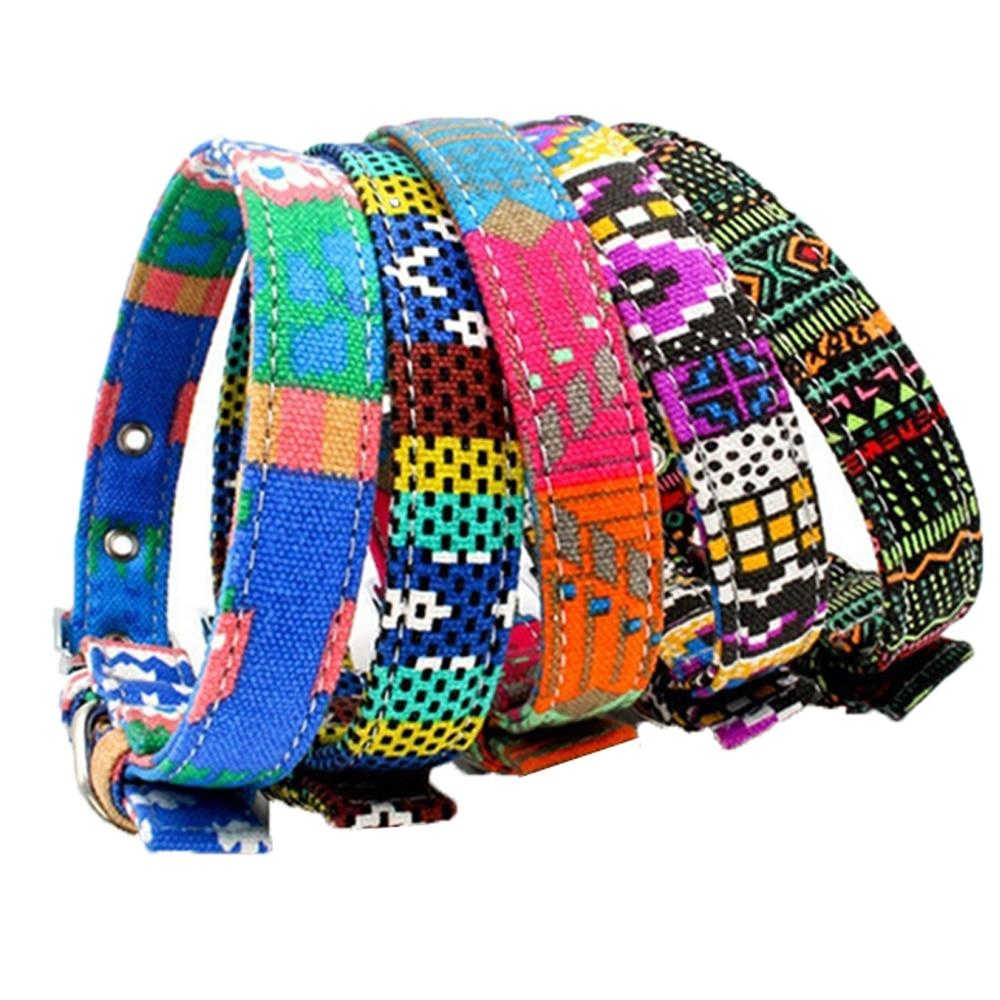 Adjustable Colorful  Dog Collar - Paw Pawchi