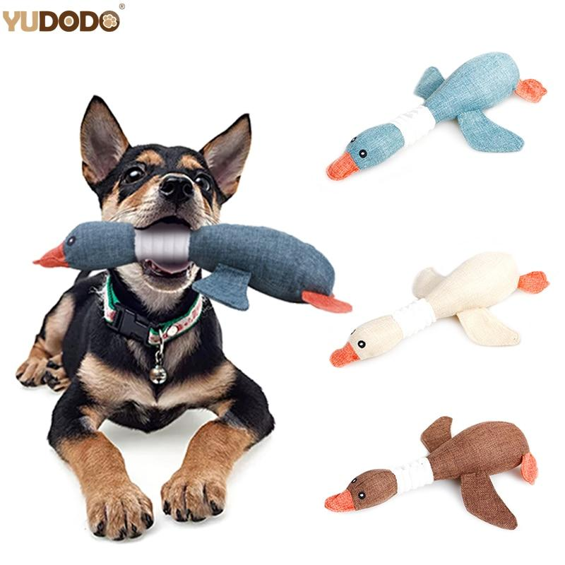 Cartoon Wild Goose Plush Dog Toy - Paw Pawchi
