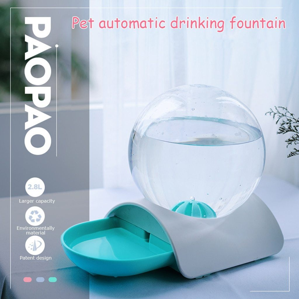 Dog Bubble Automatic Water Feeder Fountain - Paw Pawchi