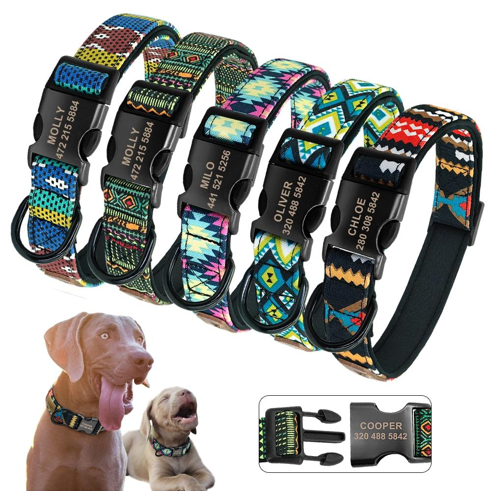 Personalized Nylon Dog Collar - Paw Pawchi