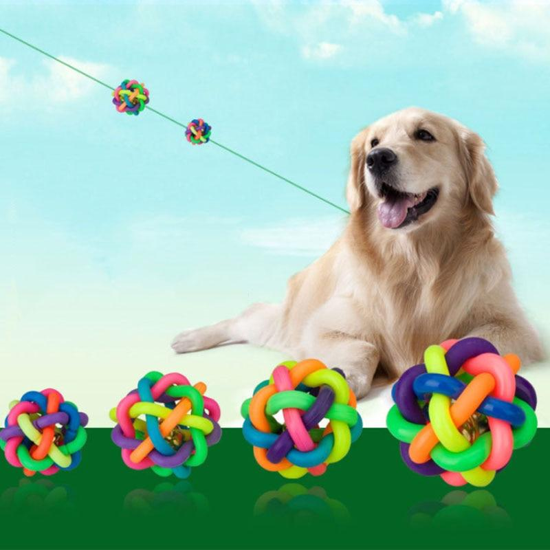 Rainbow Round Rubber Ball - Paw Pawchi