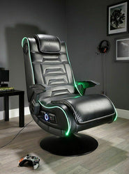 X Rocker New Evo Pro Gaming Chair LED Edge Lighting Optical USB 12+ Years - E43