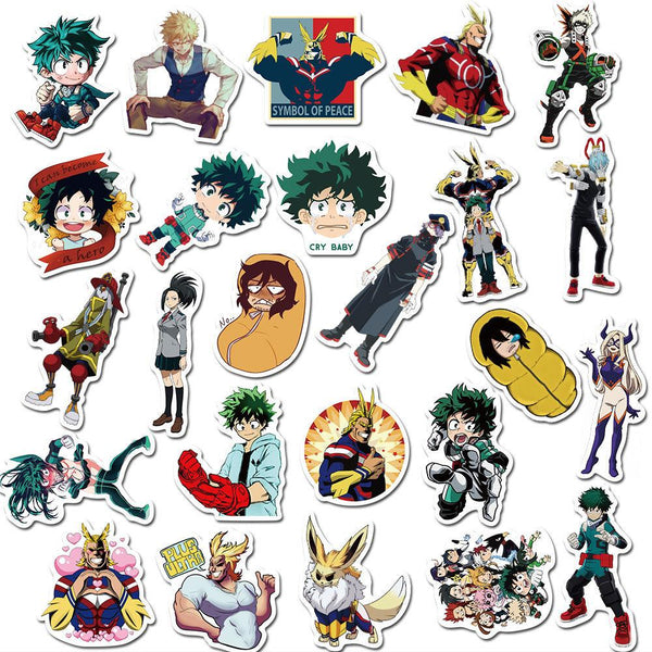Academy Cartoon ( 50 Pcs )-Vinyl Waterproof Stickers - StickerDoll