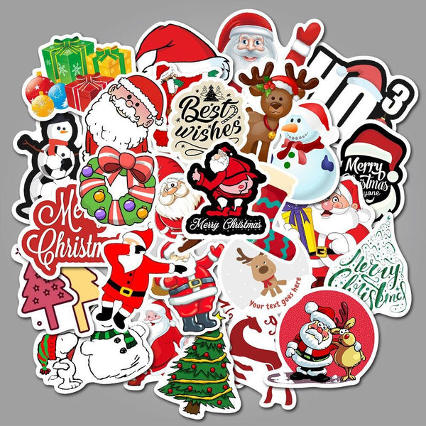 Christmas Cartoon ( 50 Pcs )-Vinyl Waterproof Stickers - StickerDoll