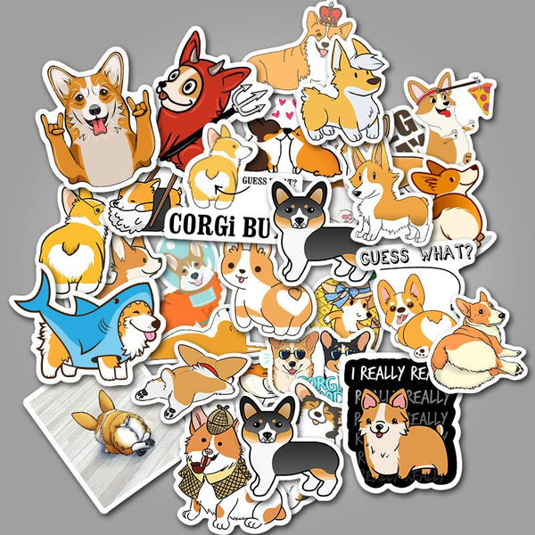 Dog Cartoon ( 50 Pcs )-Vinyl Waterproof Stickers - StickerDoll