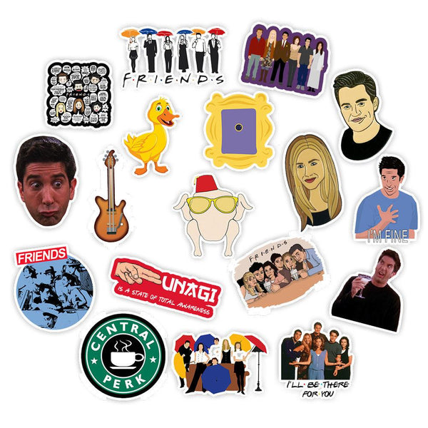 Friend Cartoon ( 50 Pcs )-Vinyl Waterproof Stickers - StickerDoll