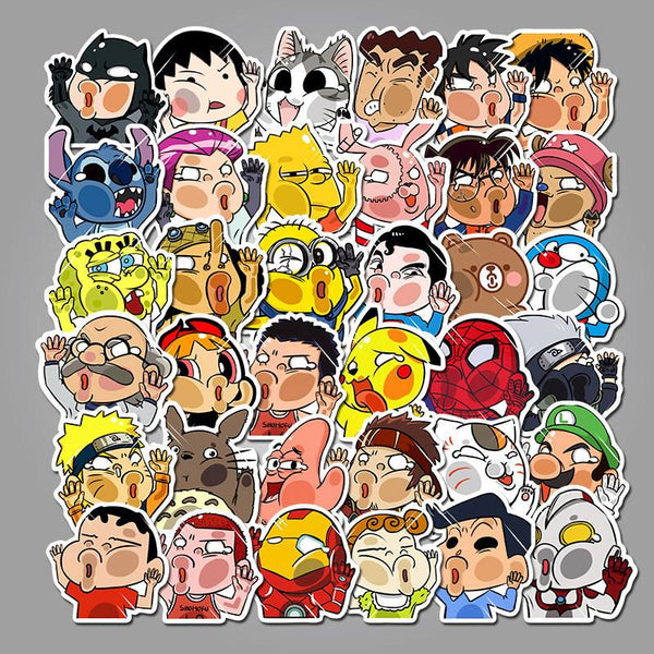 Funny Cartoon Character ( 50 Pcs )-Vinyl Waterproof Stickers - StickerDoll