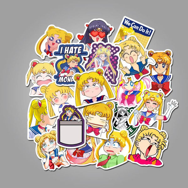 Girl Cartoon ( 50 Pcs )-Vinyl Waterproof Stickers - StickerDoll