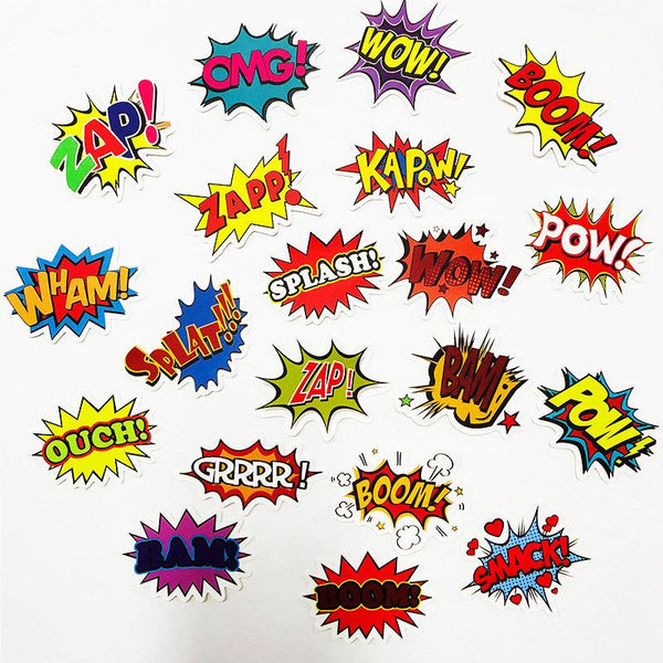 Letter Surprise ( 50 Pcs )-Vinyl Waterproof Stickers - StickerDoll