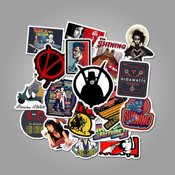 Movie ( 50 Pcs )-Vinyl Waterproof Stickers - StickerDoll