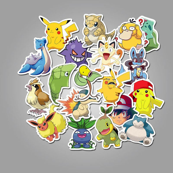 Pet Cartoon ( 50 Pcs )-Vinyl Waterproof Stickers - StickerDoll
