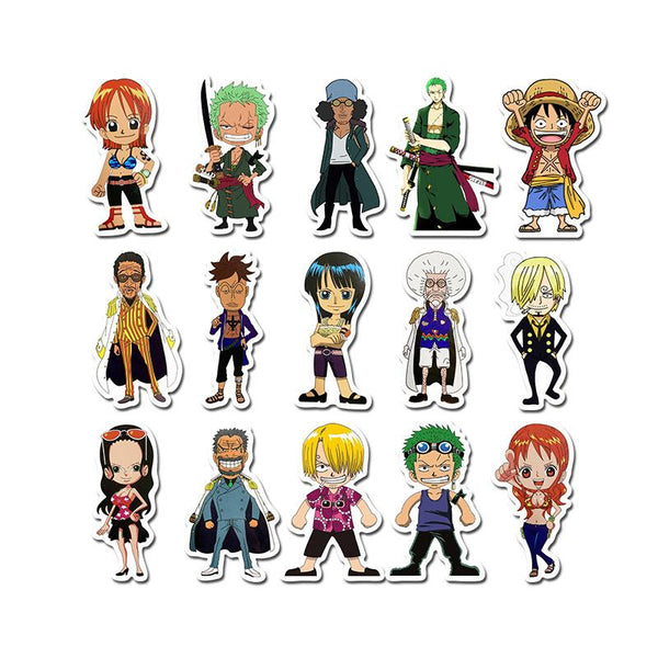 Pirate Cartoon ( 50 Pcs )-Vinyl Waterproof Stickers - StickerDoll