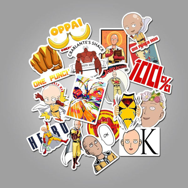 Punch Cartoon ( 50 Pcs )-Vinyl Waterproof Stickers - StickerDoll