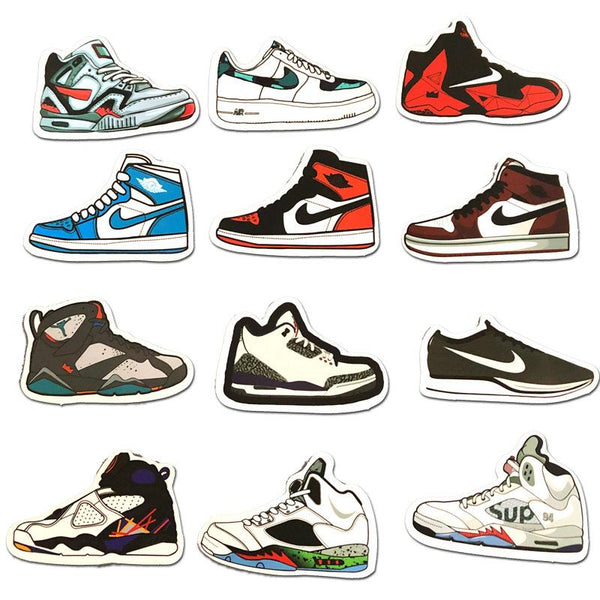 Sneakers Cartoon ( 50 Pcs )-Vinyl Waterproof Stickers - StickerDoll