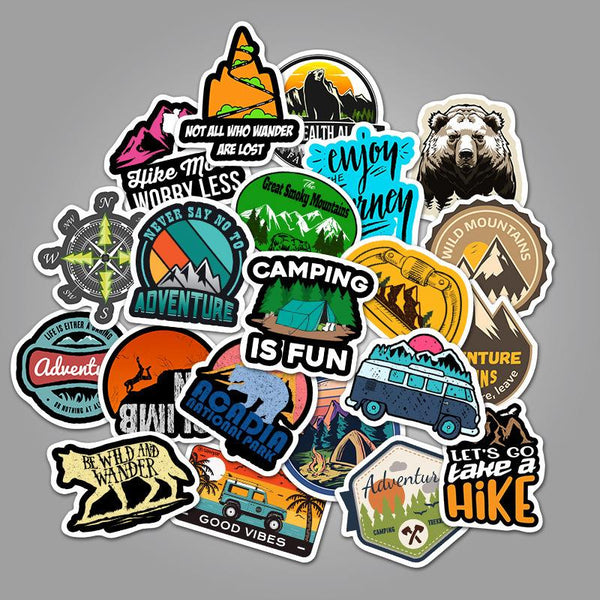 Travel Graffiti ( 50 Pcs )-Vinyl Waterproof Stickers - StickerDoll
