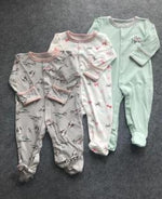 Load image into Gallery viewer, 100% Cotton Papa's & Mama's 3 set Footed Onsie Unisex - thepromesa