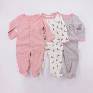 100% Cotton Papa's & Mama's 3 set Footed Onsie Unisex - thepromesa