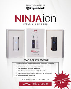 Ninja Ion Wearable Air Purifier with 200 Millions Anions