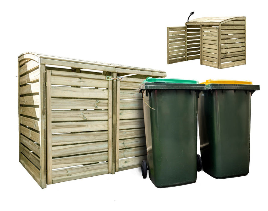 Double Wheelie Bin Store 1450Wx860Dx1250H