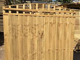 Dome trellis top closeboard panels