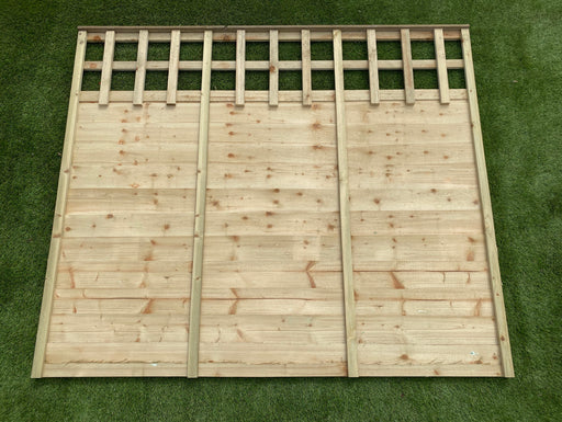 Trellis top overlap panel