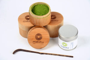 Bamboo container to preserve your Matcha powder. made of 100% bamboo.