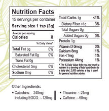 Load image into Gallery viewer, Matcha green tea Qatar - Nutrition facts