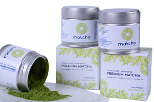 Matcha tea powder sold in Qatar - natural antioxidant and fat burner