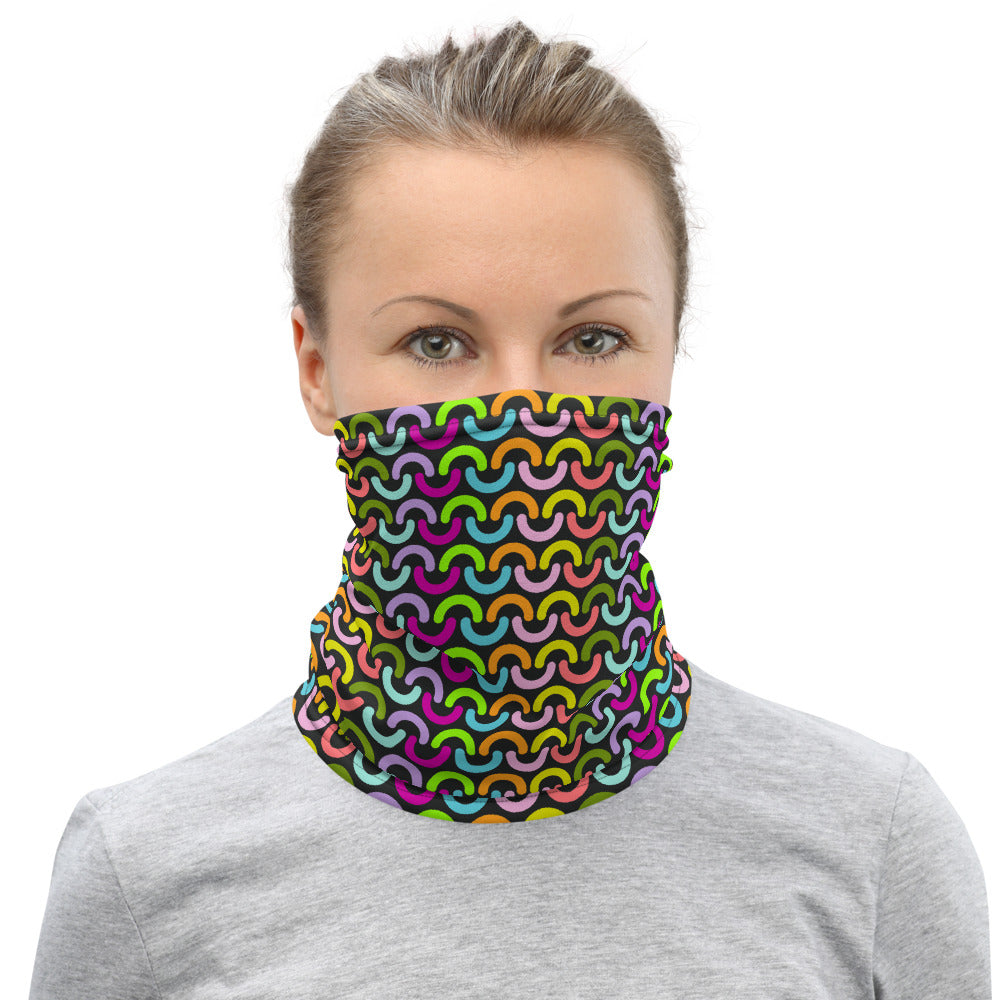 Rainbow Chunky Knit Neck Gaiter